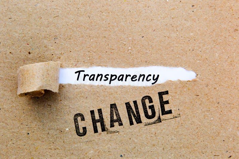 Mudança - transparência - estratégias bem sucedidas para a mudança fotografia de stock royalty free
