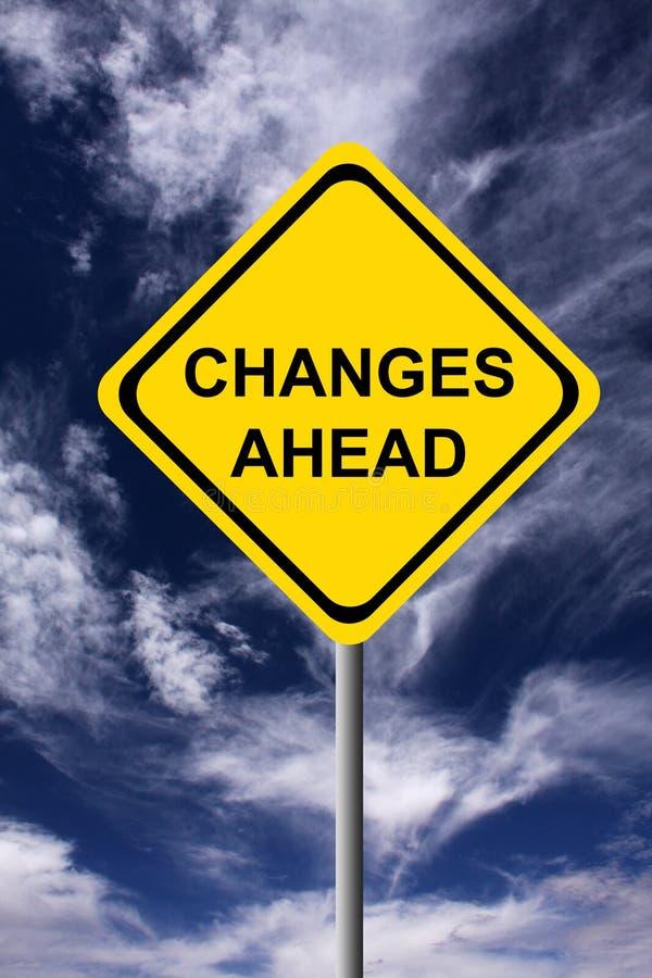 Mudanças adiante