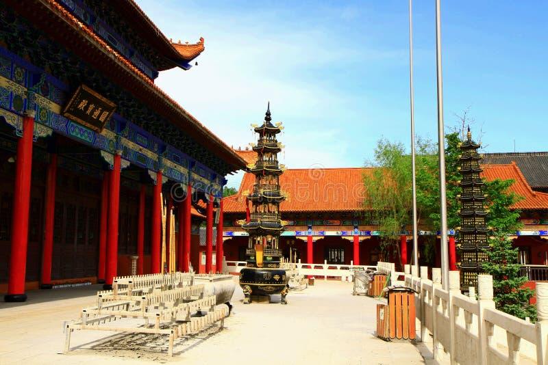 Mudanjiang Yuantong świątynia fotografia stock