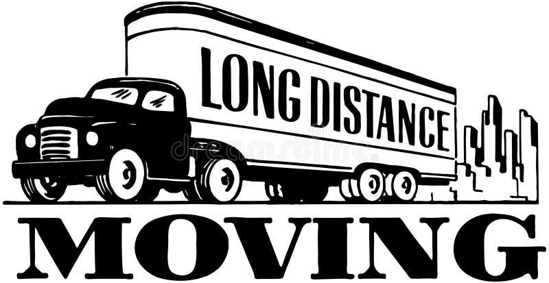 Mudanza de larga distancia stock de ilustración