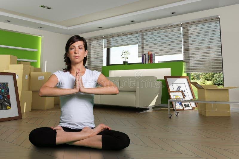 Mudanza del zen fotos de archivo