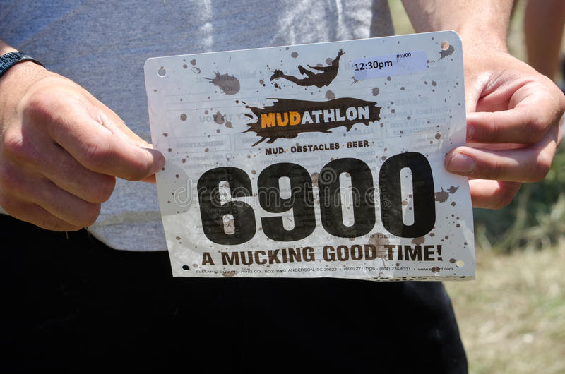 Download Mudathlon Contestant Number Editorial Stock Image - Image of nature, festival: 25854259