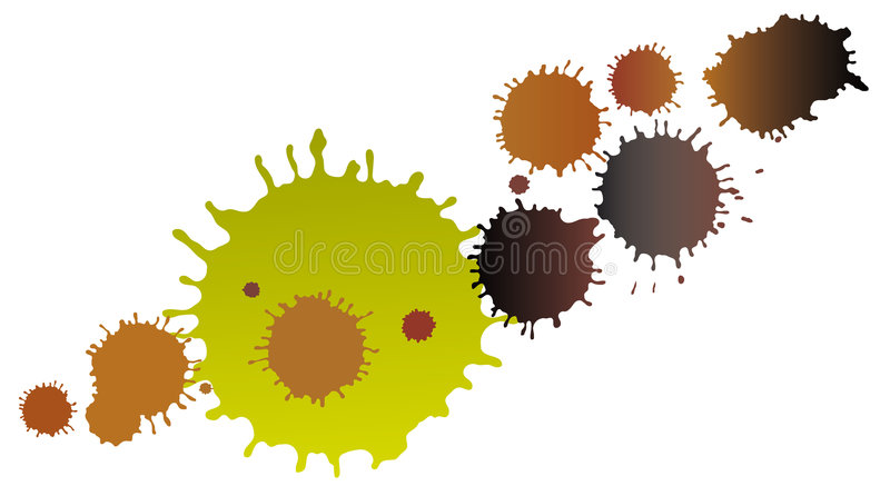 Download MudBlots stock vector. Image of mess, bright, clay, droplets - 9140566