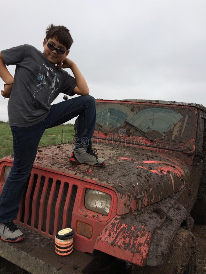 Mudbogging stock photography