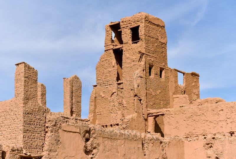 Mudbrick domu architektura w Maroko zdjęcie stock