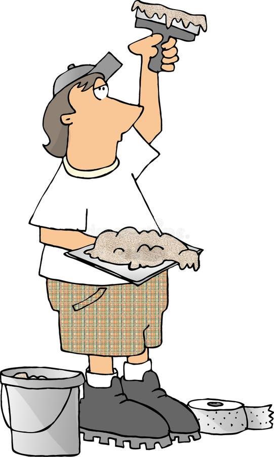 mudder sheetrock ilustracji