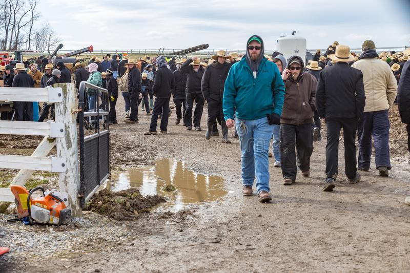 Muddy Areas à la vente de boue image libre de droits