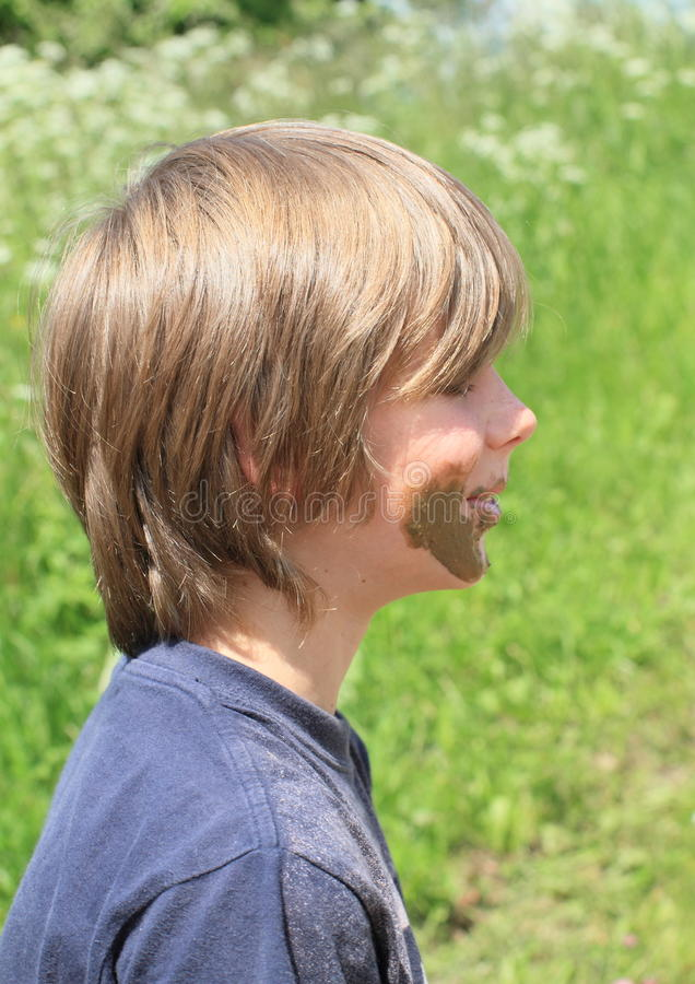 Download Muddy boy stock image. Image of portrait, face, messy - 31487941
