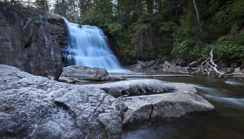 Muddy Creek Falls in primavera immagine stock