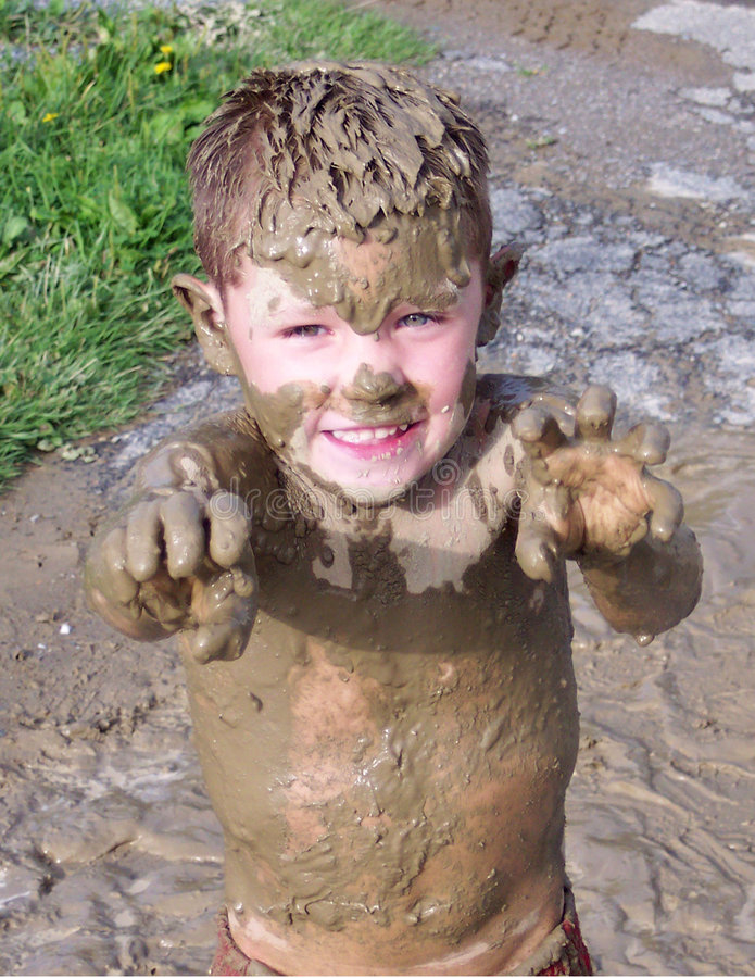 Muddy Monster stock image