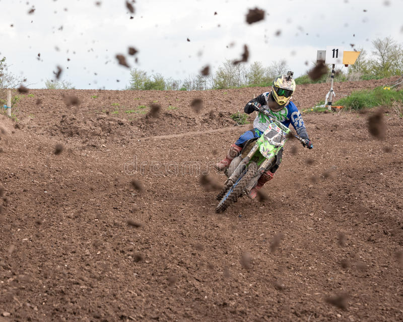 Muddy Motocross Race images stock