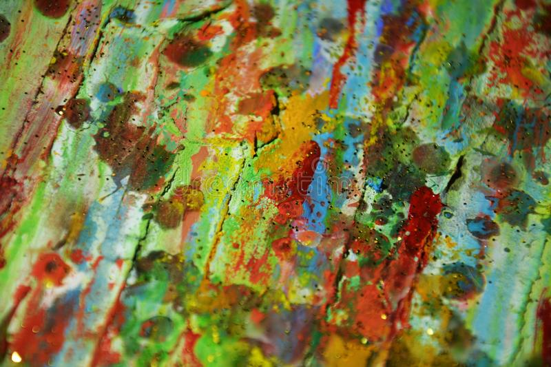 M watercolor green blue yellow orange, abstract background royalty free stock images