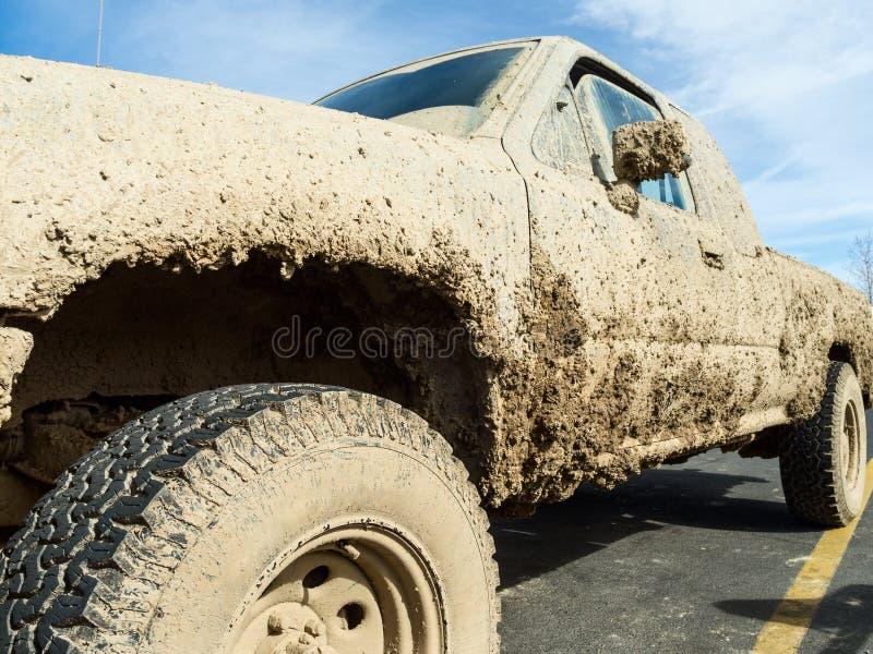 Muddy pickup truck stock photos