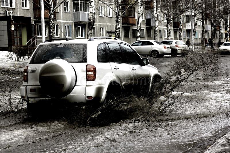Download Muddy road stock photo. Image of sliding, road, land - 13496904