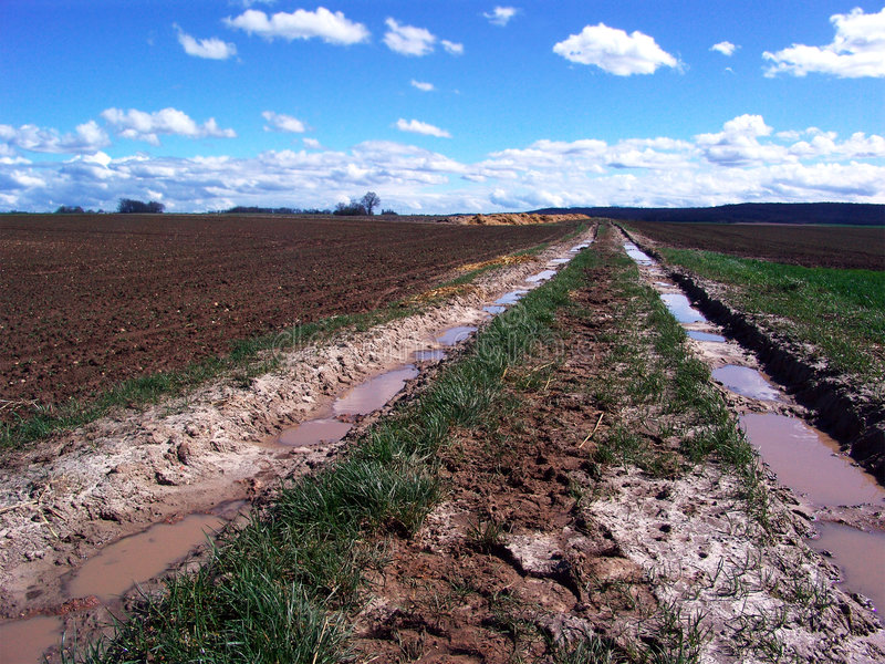 Download Muddy track in countryside stock photo. Image of rural - 640926