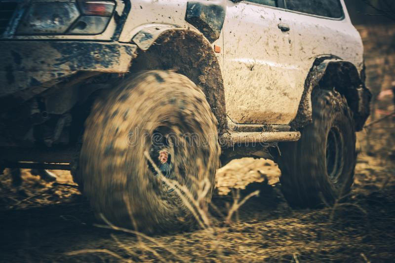Muddy Trail Off Road Drive royalty-vrije stock afbeelding