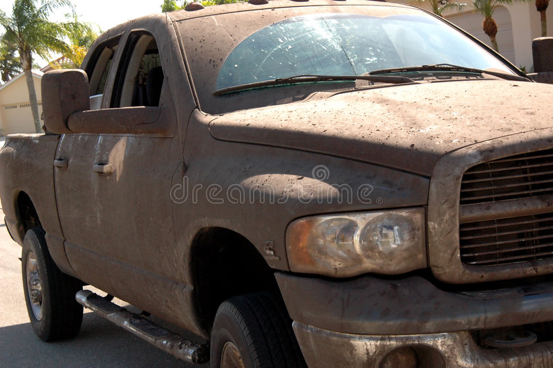 Muddy truck royalty free stock photography