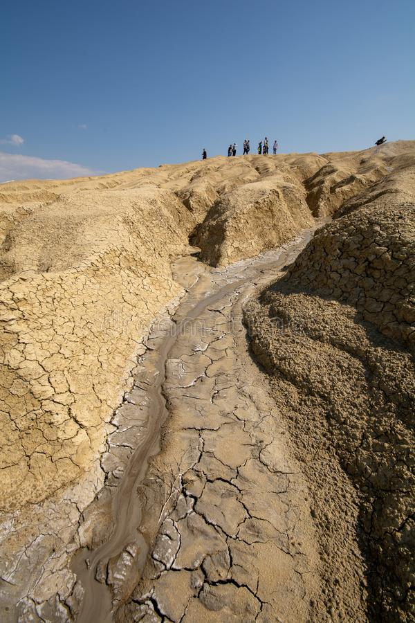 The muddy volcano in Buzau county Romania - Paclele mici royalty free stock photography