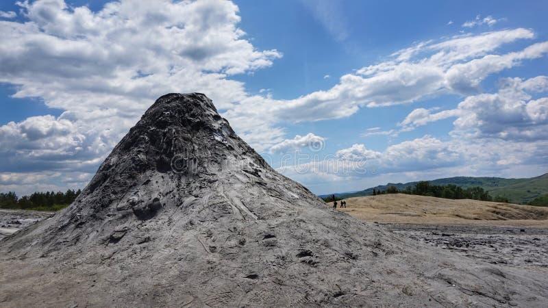 muddy volcanos landscape royalty free stock photo