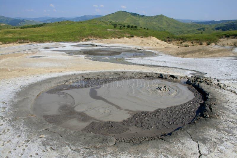Muddy volcanos landscape VIII royalty free stock images