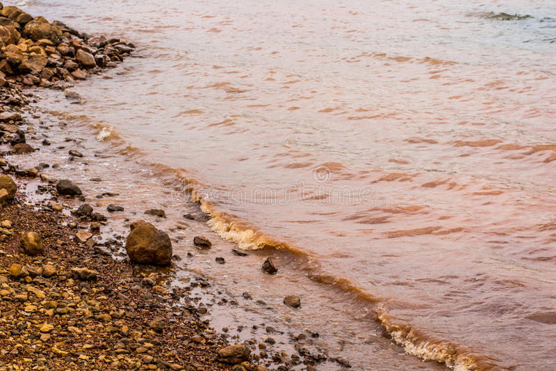 Muddy Water Waves of Panshet stock photos