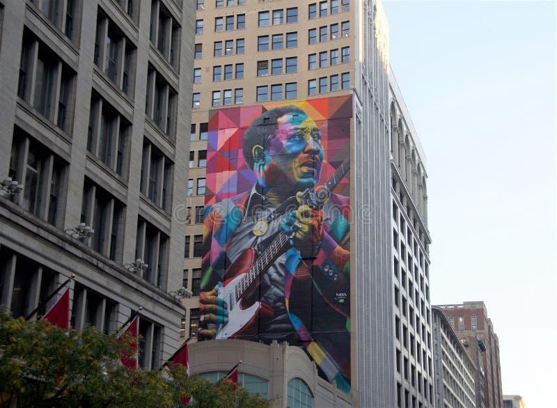 Muddy Waters Painting Chicago, l'Illinois photographie stock libre de droits