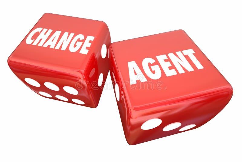 Mude o agente que Roll Dice Disrupt se adapta inova ilustração royalty free
