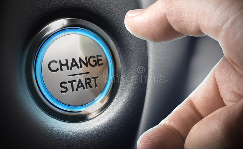 Mude o conceito da tomada de decisão ilustração stock