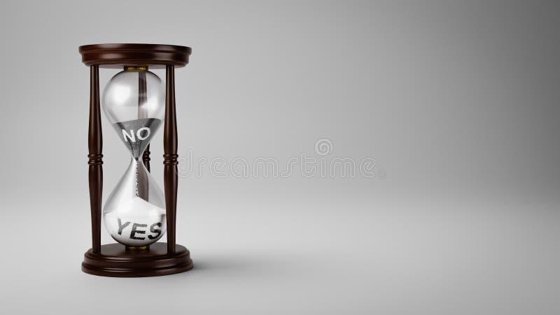 Mude a opinião ao longo do tempo ilustração do vetor
