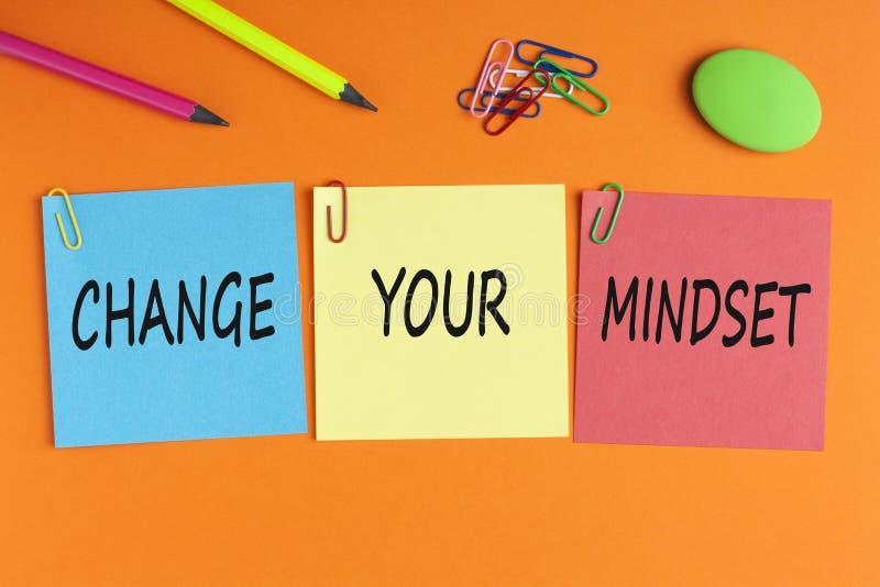 Mude seu conceito do Mindset fotografia de stock