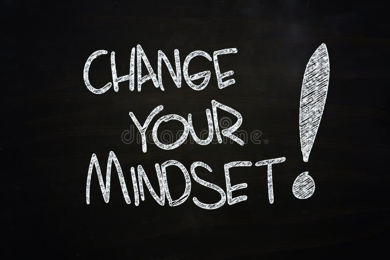 Mude seu mindset imagem de stock