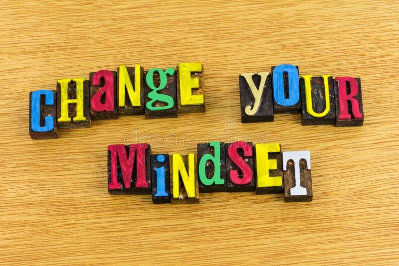 Mude sua atitude do mindset imagens de stock
