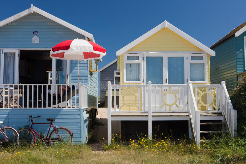 Mudeford Beach Huts royalty free stock images