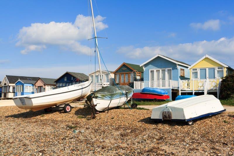 Mudeford Beach Huts stock images