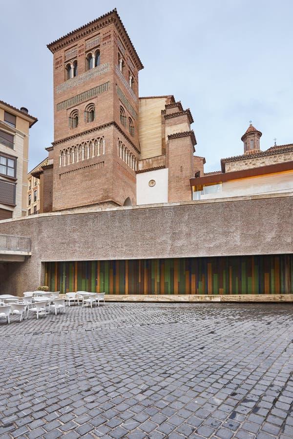 Mudejar art. De toren van San Pedro Teruel De erfenis van Spanje Architectu royalty-vrije stock foto