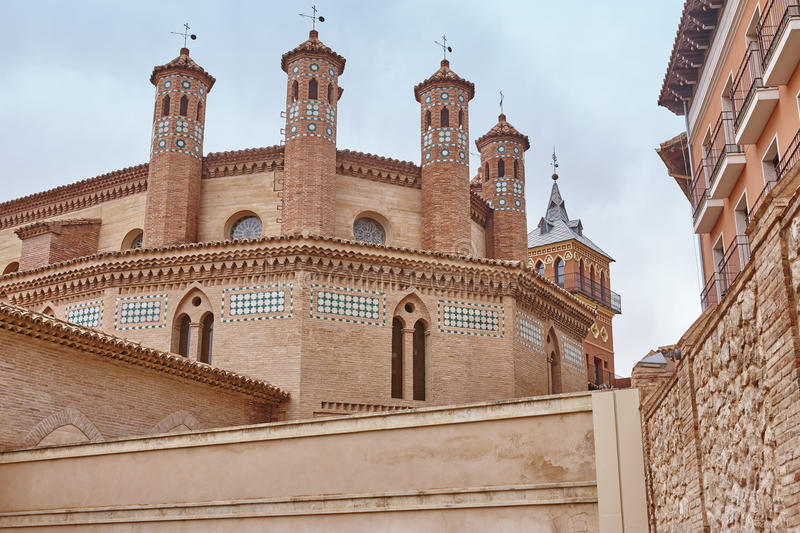 Mudejar art in Teruel. San Pedro apse. Spain heritage. Landmark stock image
