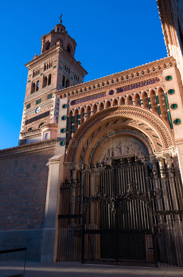 Mudejar Cathedral of Santa Maria de Mediavilla 13th century, T. Eruel. Aragon, Spain royalty free stock image