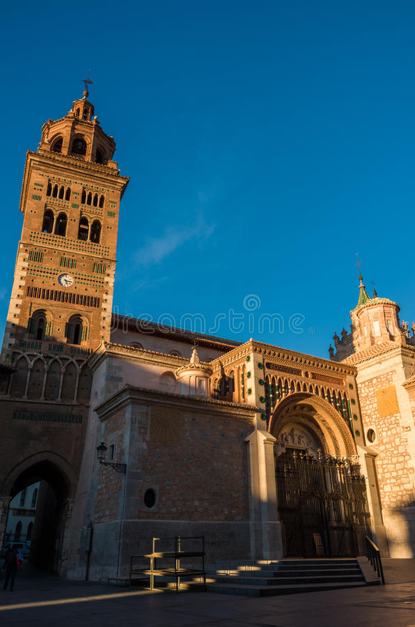 Mudejar Cathedral of Santa Maria de Mediavilla 13th century, T. Eruel. Aragon, Spain stock images