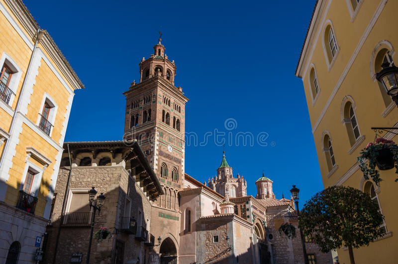 Mudejar Cathedral of Santa Maria de Mediavilla 13th century, T. Eruel. Aragon, Spain stock photos