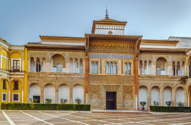 Mudejar Palace in Alcazar of Seville, Spain. Mudejar Palace in Alcazar of Seville was built by Pedro I of Castile in 1364, Spain stock images