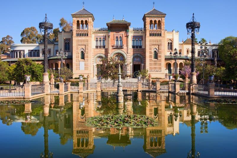 Mudejar pawilon w Seville zdjęcia stock