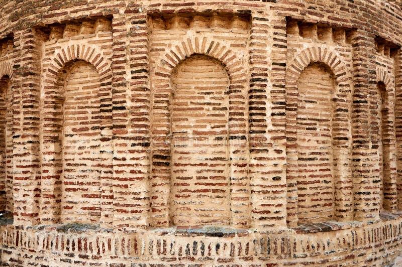 Mudejar-Romanikwand in einem historischen dhuch lizenzfreies stockfoto