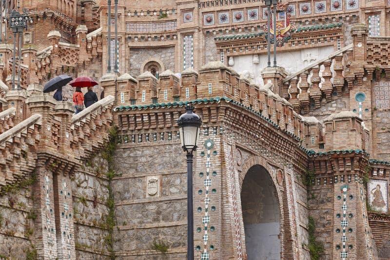 Mudejar sztuka Hiszpański architektura punktu zwrotnego dziedzictwo schody obrazy royalty free