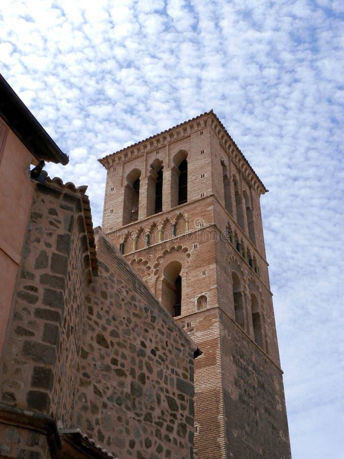 Free Mudejar Tower, Santo Tome Church. Toledo, Spain. Royalty Free Stock Image - 134454146