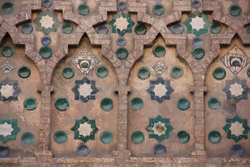 Mudejar Wand, Zaragoza lizenzfreies stockbild