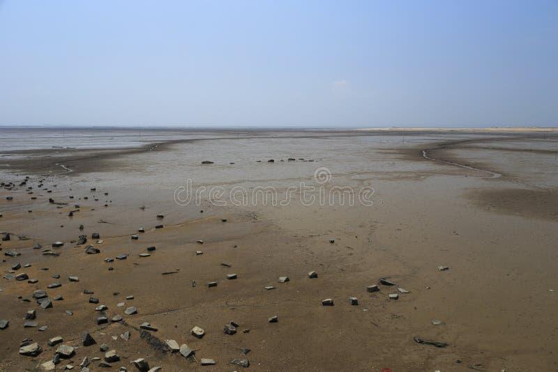 Mudflat d'île de dadeng photographie stock