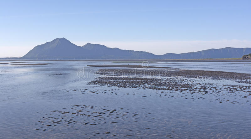 Mudflat de marée à marée basse images stock