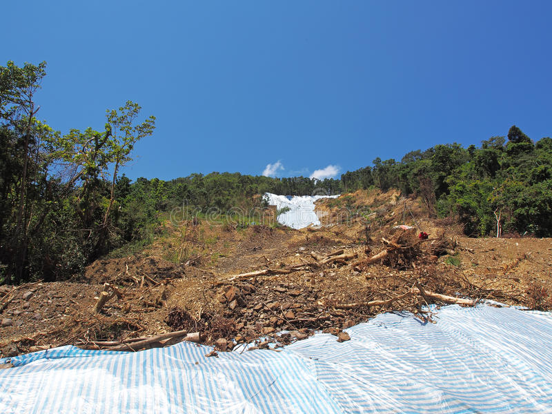 Mudflows och jordskred fotografering för bildbyråer
