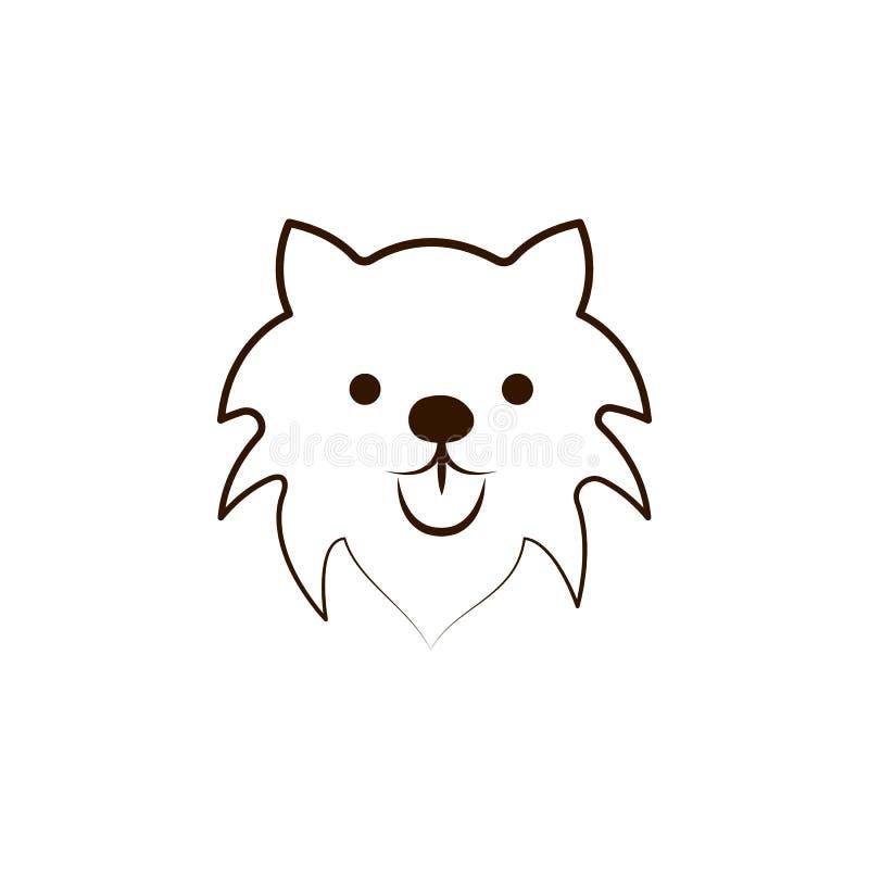 Mudipictogram Één van de hond kweekt hand trekt pictogram royalty-vrije illustratie