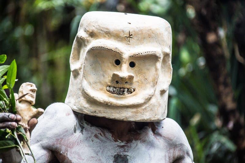 Mudmen van Papoea-Nieuw-Guinea stock afbeelding